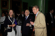 Lady Meyer, Lord Weidenfeld and Sir Christopher Meyer. Celebration of Lord Weidenfeld's 60 Years in Publishing hosted by Orion. the Weldon Galleries. National Portrait Gallery. London. 29 June 2005. ONE TIME USE ONLY - DO NOT ARCHIVE  © Copyright Photograph by Dafydd Jones 66 Stockwell Park Rd. London SW9 0DA Tel 020 7733 0108 www.dafjones.com