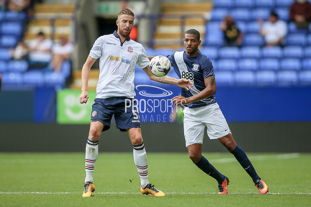 Mark Beevers (Bolton Wanderers) during the Pre-Season Friendly match between Bolton Wanderers and Preston North End at the Macron Stadium, Bolton, England on 30 July 2016. Photo by Mark P Doherty.