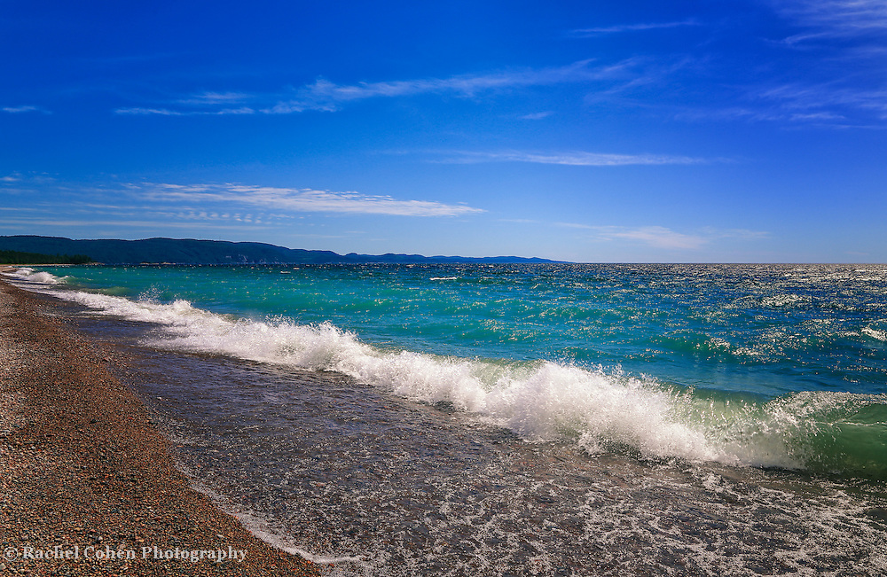 """""""Been Thinking About You""""<br /> <br /> Blue skies, blue water, white capped waves, and sparkling sunshine! What a day on Lake Superior!"""
