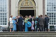 His highness prince Pieter-Christiaan of Oranje Nassau, of Vollenhoven and Ms drs. A.T. van Eijk get married Thursday 25 augusts in Palace the Loo in apeldoorn.<br /> <br /> <br /> Zijne Hoogheid Prins Pieter-Christiaan van Oranje-Nassau, van Vollenhoven en mevrouw drs. A.T. van Eijk treden donderdag 25 augustus in Paleis Het Loo te Apeldoorn in het huwelijk. <br /> <br /> On the photo/Op de foto:<br /> <br /> <br /> The Royal famile and guest coming out of the palace afther the marriage.<br /> <br /> De Koninklijke familie en gasten komt naar buiten na de huwlijksvoltrekking