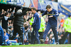 Manager Darrell Clarke (ENG) of Bristol Rovers reacts with frustration on the sideline as Portsmouth score their thoird goal - Photo mandatory by-line: Rogan Thomson/JMP - 07966 386802 - 19/04/2014 - SPORT - FOOTBALL - Fratton Park, Portsmouth - Portsmouth FC v Bristol Rovers - Sky Bet Football League 2.