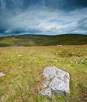 Stormy mountain landscape, Black Mountain, Brecon Beacons national park, Carmarthensire, Wales
