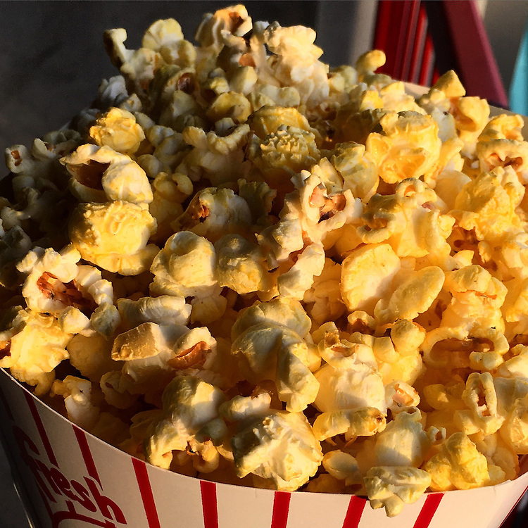 An order of Jerry Uht Park popcorn is pictured in late-day light as the Erie SeaWolves play the Richmond Flying Squirrels at Jerry Uht Park on May 27 in Erie. This picture was edited and originally published using Instagram. Photo by Andy Colwell/Erie Times-News