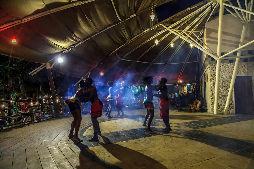 African dance at Tiwi beach, Kenya.