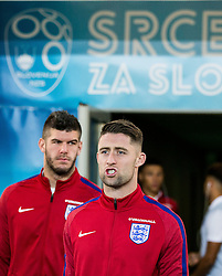 Fraser Forster and Gary Cahill during pitch check of Team England 1 day before football match between National teams of Slovenia and England in Round #3 of FIFA World Cup Russia 2018 qualifications in Group F, on October 10, 2016 in SRC Stozice, Ljubljana, Slovenia. Photo by Vid Ponikvar / Sportida