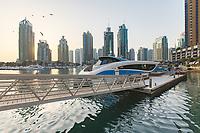 In streets of Dubai Marina