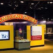 The American Stories exhibit at the Smithsonian Institution's National Museum of American History on the National Mall in Washington DC.