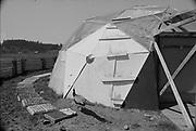 "1006-B076-18 ""Kesey Farm. Geodesic dome. April 1968"""