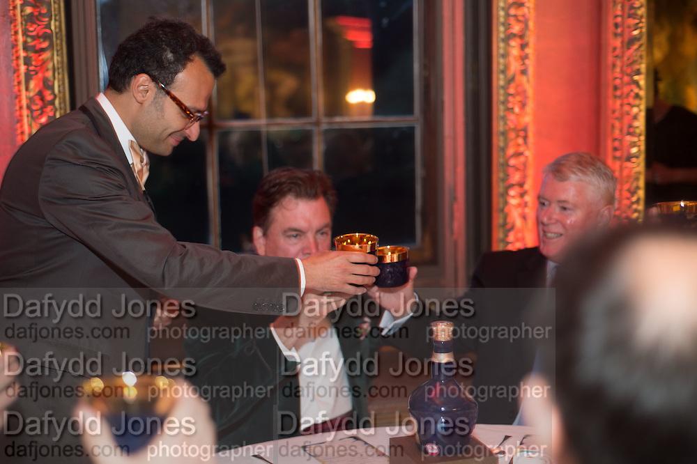 VADIM GRIGORIAN; ROBERT WILSON; MARTIN RILEY, Perdurity: A Moving Banquet of Time. Royal Salute curates a timeless evening at Hampton Court Palace with Marcos Lutyens, 2 June 2015.