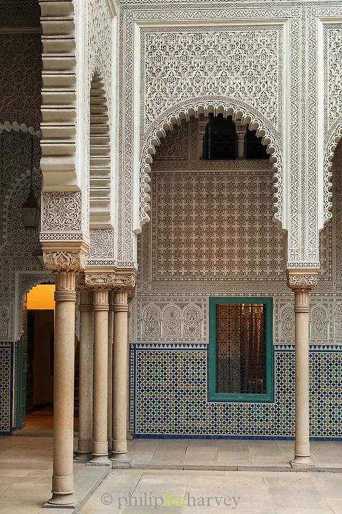Arches in Mahkama du Pacha in Casablanca, Morocco