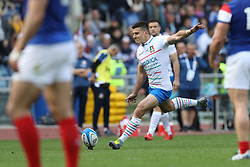 March 16, 2019 - Rome, RM, Italy - Tommaso Allan of Italy during the Six Nations International Rugby Union match between Italy and France at Stadio Olimpico on March 16, 2019 in Rome, Italy. (Credit Image: © Danilo Di Giovanni/NurPhoto via ZUMA Press)