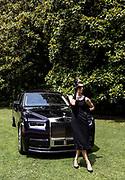 Como, Italy, Concorso d'eleganza Villa D'este, posing  with a Rolls-Royce Phantom, sponsor with BMW of the event