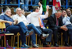 Peter Vilfan and Zoran Predin during basketball match between KK Tajfun and KK Rogaska in 4th Round of Final of Slovenian National Basketball Championship 2014/15, on May 28, 2015 in OS Hrusevec, Sentjur pri Celju, Slovenia. Photo by Vid Ponikvar / Sportida