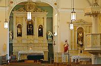 Interior of San Felipe de Neri Church, Albuquerque Old City,New Mexico,USA.