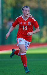 YSTRAD MYNACH, WALES - Wednesday, April 5, 2017: Wales' Hannah Miles in action during the Women's International Friendly match against Northern Ireland at Ystrad Mynach. (Pic by Laura Malkin/Propaganda)