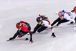 22-02-2018 KOR: Olympic Games day 13, PyeongChang<br /> Short Track Speedskating / Kim Boutin of Canada, Bianca Walter of Germany