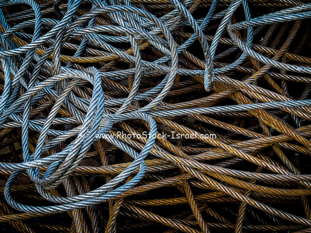 closeup of a pile of cables