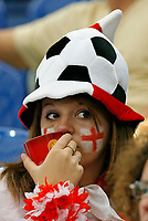 Photo: Glyn Thomas.<br />England v Portugal. Quarter Finals, FIFA World Cup 2006. 01/07/2006.<br /> Depressed England fans in the stadium after the game.