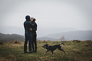 Moments after a proposal on Max Patch, on the Appalachian Trail several miles from Hot Springs, North Carolina.<br /> <br /> (November 12, 2018)