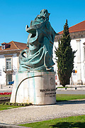 Statue of the princess Joana in front of the Santa Joana Monastery, Museu de Aveiro - Santa Joana (Antigo Mosteiro de Jesus), The former 15th century Jesus convent, Aveiro, Portugal