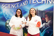 24/11/2019 repro free:Ana Murillo NUIG microbiology<br /> and Féaron Cassidy Blood Cancer Network IRELAND<br /> at the Galway Science and Technology Festival  at NUI Galway where over 20,000 people attended exhibition stands  from schools to Multinational Companies . Photo:Andrew Downes, xposure