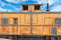 Main Central railroad freight car, one of the authentic pieces of equipment from the original rail line, at the Danbury Rail Museum.