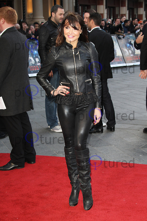 Lizzie Cundy, Iron Man 3 UK Special Screening, Odeon cinema Leicester Square, London UK, 18 April 2013, (Photo by Richard Goldschmidt)