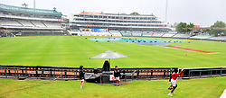 Cape Town.180207 Kids play at Newlands cricket stadium while everyone else wait patiently for the rain to stop.The cricket game between South frica and India is delayed because of rain.  Picture:Phando Jikelo/African News Agency(ANA)
