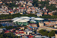 cityscape skyline of Tbilisi Georgia capital city with Ministry Of Energy eastern Europe