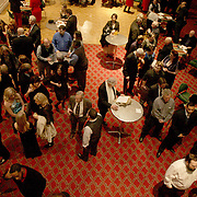 People mingle at the pre-reception for the Wilmington Theater Awards at Thursday January 23, 2014 at Thalian Hall. (Jason A. Frizzelle)