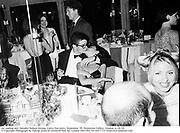 Jay Jopling and  Annabel Neilson kissing. Vanity Fair party, Serpentine Ô95. Serpentine Gallery, London. 6/28/95. © Copyright Photograph by Dafydd Jones 66 Stockwell Park Rd. London SW9 0DA Tel 020 7733 0108 www.dafjones.com