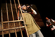 Quest Rah, (left) and Scarab, (right) two Islamic Hip Hop artist, are performing during the 'Palestine - The Album', a music collection recorded by many different artists in the Islamic Hip Hop scene in London, England, on Saturday, Jan. 6, 2007.  Islamic Hip Hop artists like the duo 'Blind Alphabetz', from London, feel more than ever the need to say what they think aloud. In the music industry the backlash of a disputable Western foreign policy towards Islamic countries and its people is strong. The number of artists in the European Union and the US taking this into consideration and addressing the current social and political problems within their lyrics is growing rapidly and fostering awareness for Muslim and others alike.
