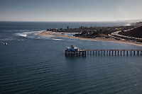 Malibu wharf and coastline, Los Angeles, California.