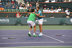 March 16, 2019 - Palm Desert, California, Usa - Tennis : BNP Paribas Open 2019 - double messieurs Nicola Mektic - Croatie - Horacio Zeballos - Argentine (Credit Image: © Panoramic via ZUMA Press)