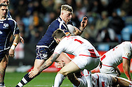 Scotland's Danny Addy (7) during the Ladbrokes Four Nations match between England and Scotland at the Ricoh Arena, Coventry, England on 5 November 2016. Photo by Craig Galloway.