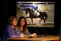Van Grunsven Anky, Jokelien Janssen, (NED)<br /> Greatest Dressage Horses Ever, Bonfire, Salinero<br /> Global Dressage Forum<br /> Academy Bartels - Hooge Mierden 2015<br /> © Hippo Foto - Dirk Caremans<br /> 26/10/15
