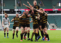 Rugby Union - 2019 Bill Beaumont County Championship Division One Final - Cheshire vs. Cornwall<br /> <br /> Seti Raumakita of Cornwall celebrates his try to level the scoring in overtime with his team mates, at Twickenham.<br /> <br /> COLORSPORT/ANDREW COWIE