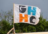 HAREN - Hockey - Het logo van GHHC.  Groningen (GHHC) wint de promotiewedstrijd naar de hoofdklasse van Were Di (1-0). .COPYRIGHT KOEN SUYK
