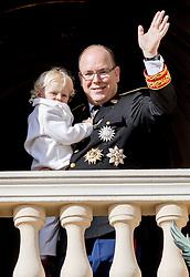 Fürst Albert mit Sohn Prinz Jacques bei den Feierlichkeiten zum Nationalfeiertag in Monaco / 191116<br /> <br /> ***National Day in Monaco, November 19th, 2016***