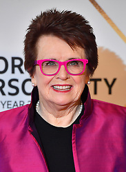 Billie Jean King during the red carpet arrivals for the BBC Sports Personality of the Year 2018 at The Vox at Resorts World Birmingham.