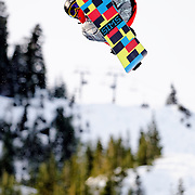 US Snowboarding Team member Steve Fisher competes in the half pipe during preliminaries at the 2009 LG Snowboard FIS World Cup at Cypress Mountain, British Columbia, on February 16th, 2009. Fisher finished 10th in a field of 70.
