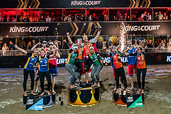 Ceremony King of the Court in action during the last day of the beach volleyball event King of the Court at Jaarbeursplein on September 12, 2020 in Utrecht.