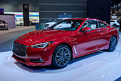 09 February 2017: Infinity Q60s 2 door AWD 4 door <br /> <br /> First staged in 1901, the Chicago Auto Show is the largest auto show in North America and has been held more times than any other auto exposition on the continent.  It has been  presented by the Chicago Automobile Trade Association (CATA) since 1935.  It is held at McCormick Place, Chicago Illinois<br /> #CAS17<br /> <br /> This image is an HDR (High Dynamic Range) composite.