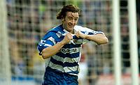 Photo: Gareth Davies.<br />Reading v West Ham United. The Barclays Premiership. 01/01/2007.<br />Reading's Steven Hunt celebrates after scoring Reading's second goal.