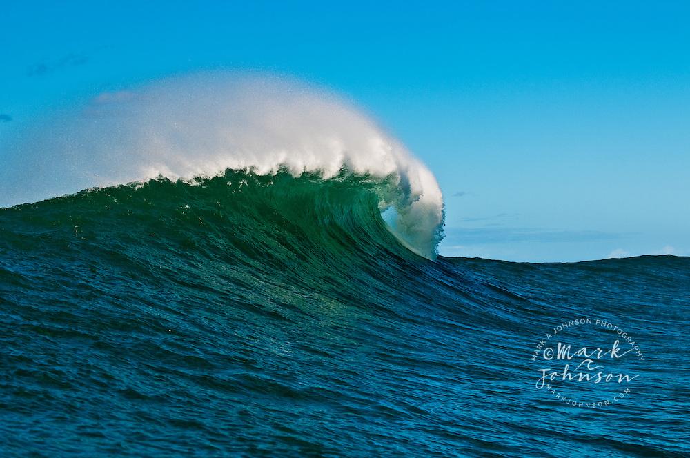 Large wave breaking off Kauai, Hawaii