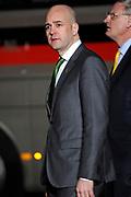 Koning Willem Alexander en Koningin Maxima ontvangen  de delegatieleiders van de Nuclear Security Summit (NSS) voor een diner op Paleis Huis Ten Bosch in Den Haag.<br /> <br /> King Willem Alexander and Queen Maxima receive the heads of delegation of the Nuclear Security Summit (NSS) for a dinner at the palace Huis Ten Bosch in The Hague.<br /> <br /> Op de foto / On the photo:  premier Fredrik Reinfeldt van Zweden