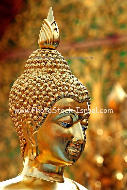 Statue of Buddha at the golden temple Wat Phra Doi Suthep Chiang Mai,  Thailand