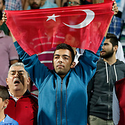 Supporters during their Turkish Superleague soccer match Kasimpasa between Fenerbahce at the Recep Tayyip Erdogan stadium in Istanbul Turkey on Sunday 13 September 2015. Photo by Aykut AKICI/TURKPIX