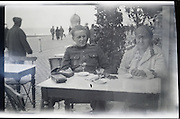 positive of fading negative of young adutl man and woman 1920s