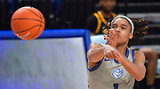 St Louis Billikens guard Yuri Collins (1) passes. St. Louis University hosted the University of Arkansas - Pine Bluff in a mens basketball game on December 5, 2020 at Chaifetz Arena on the SLU campus in St. Louis, MO.<br /> Photo by Tim Vizer